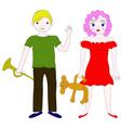 school-age children boy and girl vector image