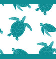 sea turtles seamless background vector image vector image