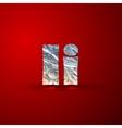 set of aluminum or silver foil letters Letter I vector image vector image