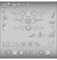 Set of silver vintage design elements vector image