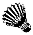 shuttlecock icon simple style vector image vector image