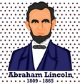 Silhouette Abraham Lincoln vector image vector image