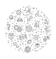 simple set games related line icons vector image vector image