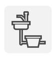 sink icon black vector image vector image