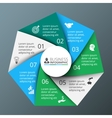 spiral heptagon for infographic vector image vector image