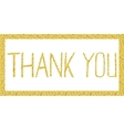 Thank you lettering in Gold vector image
