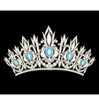 tiara crown womens wedding with a light blue stone