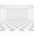 tile floor brick wall vector image