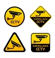 Video surveillance set stickers vector image vector image