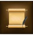 vintage jewish scroll vector image vector image