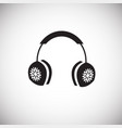 warm ear pads on white background vector image vector image