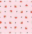 watermelon seamless geometric pattern simple vector image