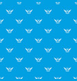 wing pattern seamless blue vector image vector image