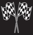 racing flag dve kontrast vector image