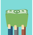 A lot of money A stack of dollars The companys vector image vector image