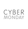 a white background with text for cyber monday vector image