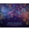 Abstract color bokeh background vector image
