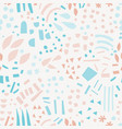 abstract shapes hand drawn color seamless pattern vector image
