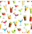 alcoholic cocklails seamless pattern vector image vector image