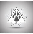 Animal footprint logo isolated on white background