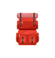 backpack icon touristic camping knapsack vector image vector image