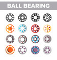 ball bearing mechanism color icons set vector image