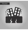 black and white style icon natural disaster vector image vector image