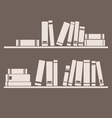 Books on the shelf interior design vintage vector image