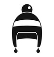 boy winter hat icon simple style vector image