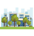 buildings with cityscape scene vector image vector image