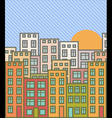 Cartoon cityscape vector image vector image