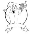 Cartoon hot dog chef vector image vector image