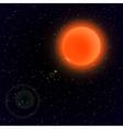 Cartoon Sun in open space vector image vector image