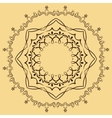 circular abstract pattern in Arabic style vector image vector image