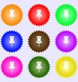 Clip Icon sign Big set of colorful diverse vector image