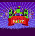 cocktail party lettering on banner disco clud vector image