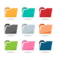 collection of colored file folders vector image