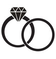 diamond ring vector image vector image