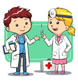 Doctor Kids vector image vector image