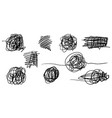 doodle sketchy pen and scrible isolated on white vector image