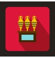 Egyptian vase icon flat style vector image vector image