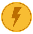 electric strike gold coin vector image vector image