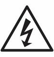 electrical hazard symbol vector image vector image