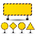 empty construction sign vector image vector image