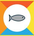 fish icon colored line symbol premium quality vector image
