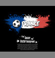 flag of france and football fans vector image vector image