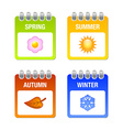 Four season icons vector image vector image