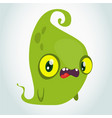 funny green cartoon monster halloween vector image vector image