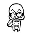 gas mask skull vector image vector image