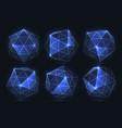 geometric forms of diamonds polygons of vector image